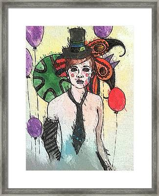 Water Clown Framed Print by Amy Sorrell