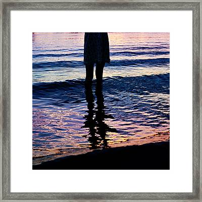 Water Color Echos Framed Print by Laura Fasulo