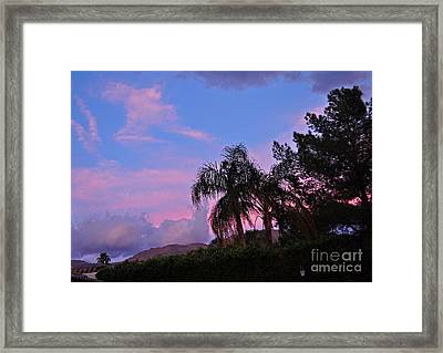 Water Colored Sky Framed Print