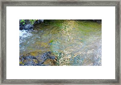 Narada Falls Water Colors Abstract Framed Print