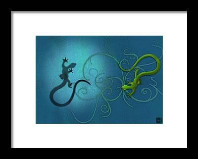 Swirl Framed Prints
