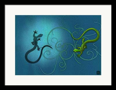 Swirl Digital Art Framed Prints