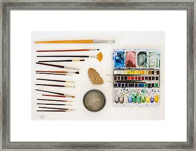 Water-colour Tools Framed Print