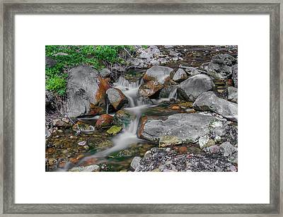 Water Coloured Rocks Framed Print by Jonah  Anderson