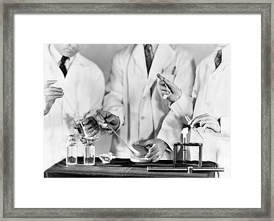 Water Contamination Test Procedure Framed Print