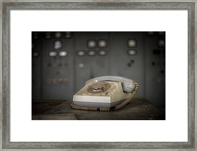 Water Control Phone Framed Print