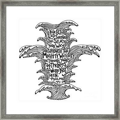 Water Cross Framed Print by Leigh Eldred