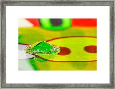 Framed Print featuring the photograph Water Crown by Peter Lakomy