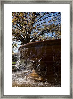 Water Curtains And Autumn Sunshine Framed Print by Georgia Mizuleva