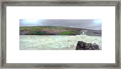 Water Dam For A Hydropower Plant Framed Print by Birgir Freyr Birgisson
