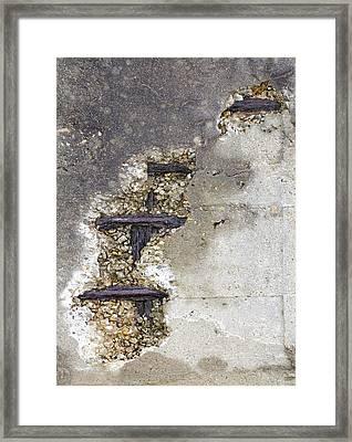 Water Damaged Concrete Framed Print