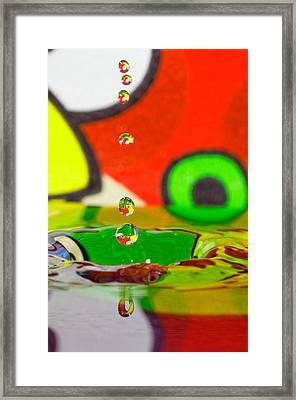 Framed Print featuring the photograph Water Dew by Peter Lakomy