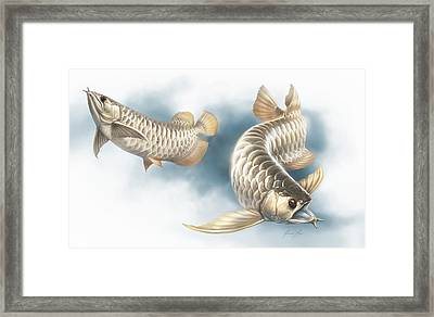 Water Dragons 04 Framed Print by Javier Lazo