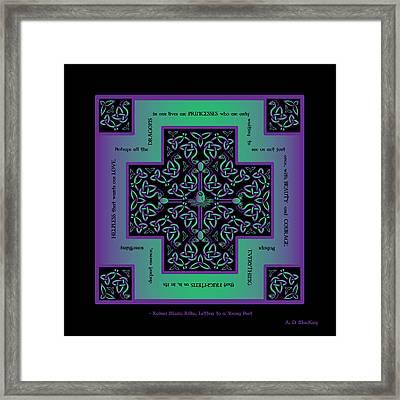 Water Dragon Celtic Cross Framed Print