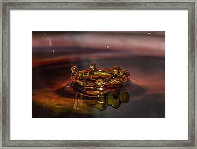 Water Drop Art Framed Print by Peter Ciro
