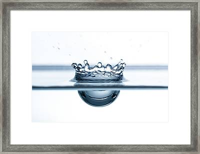 Water Drop Close-up Framed Print by Daniel Elliot Photography