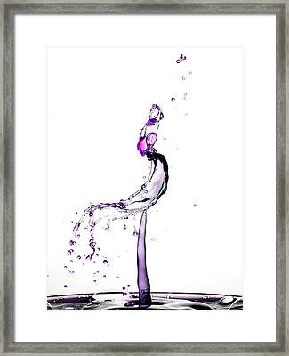 Water Drop Collision Liquid Art 9 Framed Print by Paul Ge