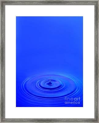 Water Drop Framed Print by Jon Neidert