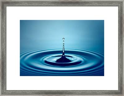 Water Drop Splash Framed Print