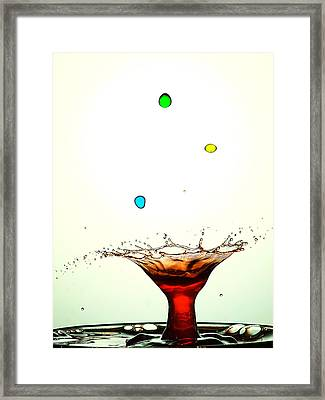 Water Droplets Collision Liquid Art 12 Framed Print by Paul Ge