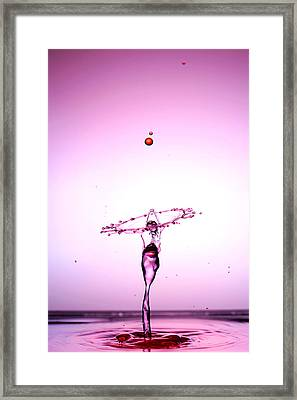 Water Droplets Collision Liquid Art 5 Framed Print by Paul Ge