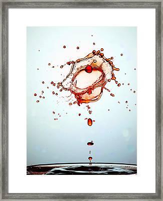 Water Drops Collision Liquid Art 15 Framed Print by Paul Ge