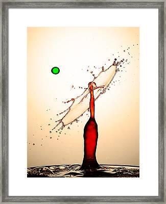 Water Drops Collision Liquid Art 16 Framed Print by Paul Ge