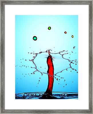 Water Drops Collision Liquid Art 17 Framed Print by Paul Ge
