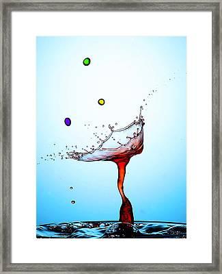 Water Drops Collision Liquid Art 18 Framed Print by Paul Ge