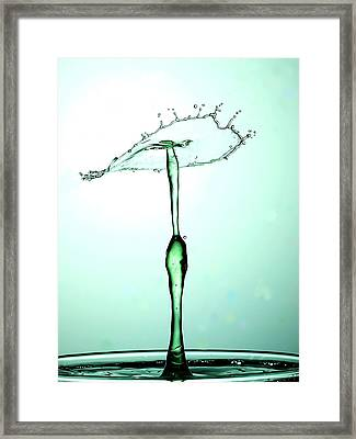 Water Drops Collision Liquid Art 23 Framed Print by Paul Ge