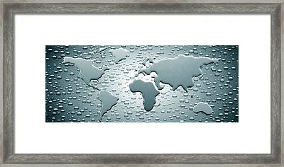 Water Drops Forming Continents Framed Print by Panoramic Images