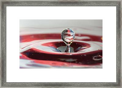 Framed Print featuring the photograph Water Drops Jumping by Jeff Folger