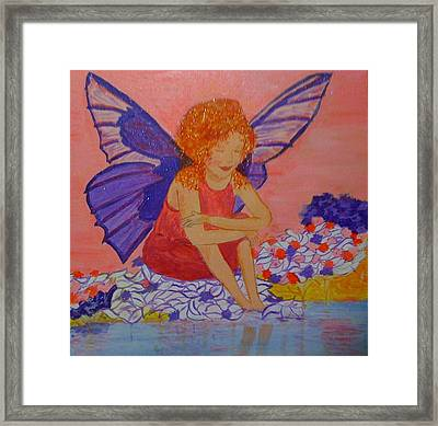 Framed Print featuring the painting Water Fairy by Judi Goodwin