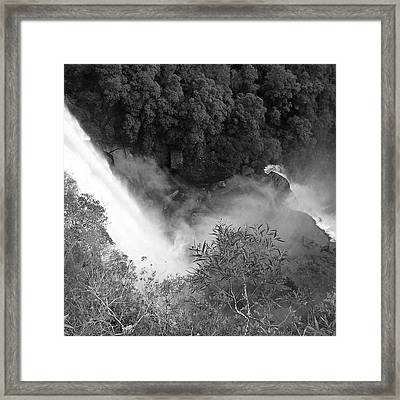 Water Fall And Bushland Framed Print by Cheryl Miller