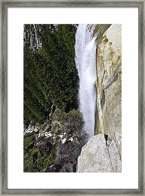Framed Print featuring the photograph Water Fall by Brian Williamson