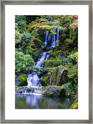 Water Fall Framed Print by Dennis Reagan