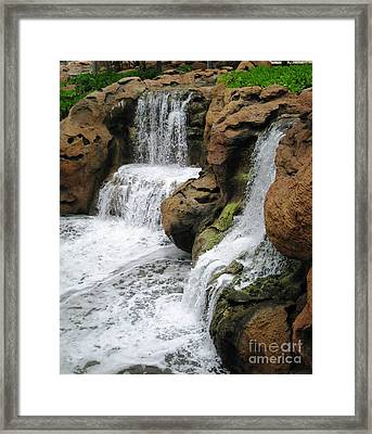 Framed Print featuring the photograph Water Fall by Judy Palkimas