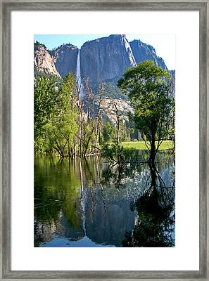 Water Fall Framed Print by Menachem Ganon