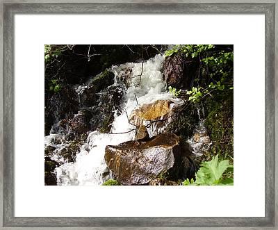 Water Fall Framed Print by Yvette Pichette