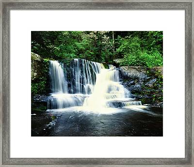 Water Falling From Rocks, Dingmans Framed Print