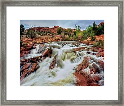 Water Falling From Rocks, Mill Creek Framed Print