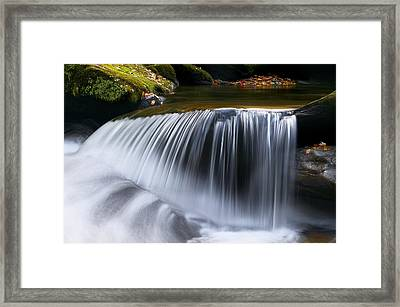 Water Falling Great Smoky Mountains Framed Print by Rich Franco