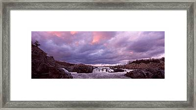 Water Falling Into A River, Great Falls Framed Print by Panoramic Images