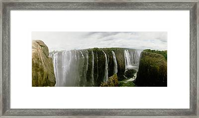 Water Falling Into A River, Victoria Framed Print