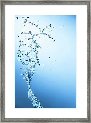 Water Falling Framed Print