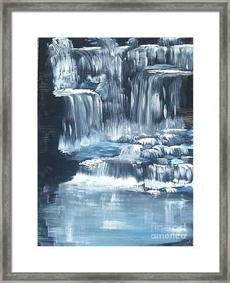 Water Falls And Falls And Falls Framed Print