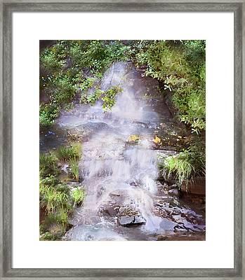 Water Falls Framed Print