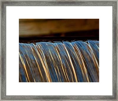 Water Falls Edge 3 Framed Print