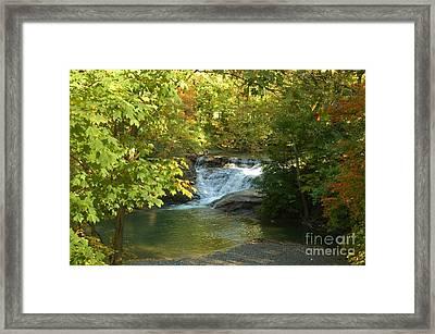 Water Falls Framed Print by Kathleen Struckle
