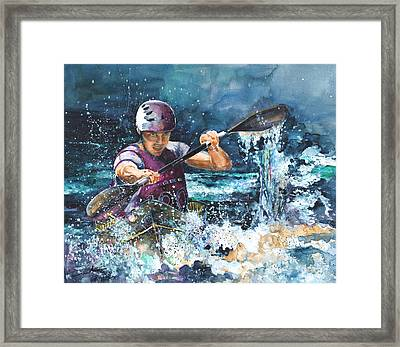 Water Fight Framed Print by Miki De Goodaboom